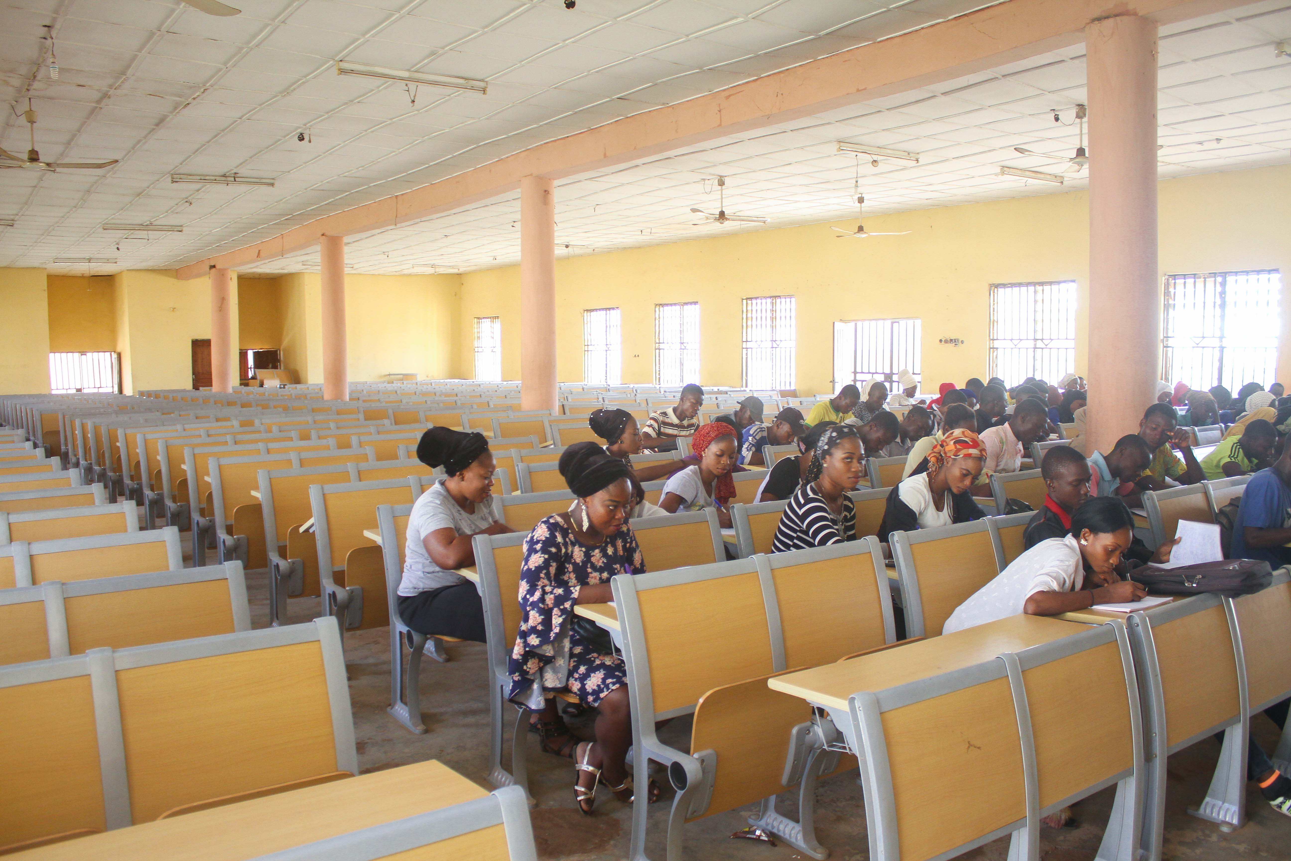 Students receiving lecture inside the Lecture Hall